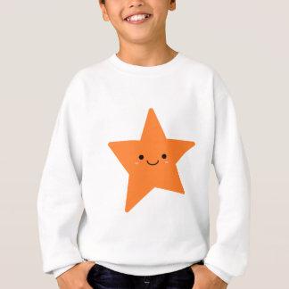 Kawaii Orange Star Sweatshirt