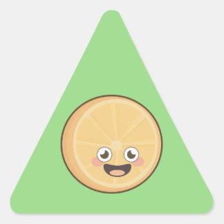 Kawaii Orange Triangle Sticker