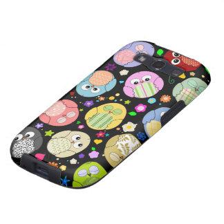 Kawaii Owls and Flowers Design Samsung Galaxy SIII Case