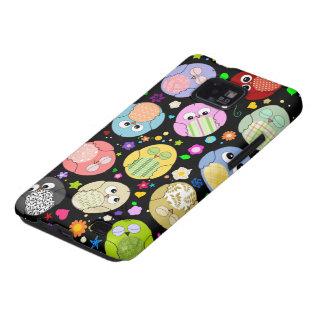 Kawaii Owls and Flowers Design Galaxy S2 Case