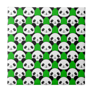 Kawaii Panda Bear Pattern Ceramic Tile