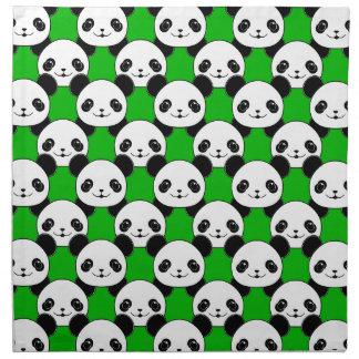 Kawaii Panda Bear Pattern Napkin