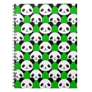 Kawaii Panda Bear Pattern Notebooks
