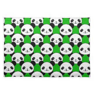 Kawaii Panda Bear Pattern Placemat