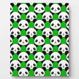 Kawaii Panda Bear Pattern Plaque
