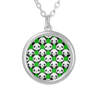 Kawaii Panda Bear Pattern Silver Plated Necklace