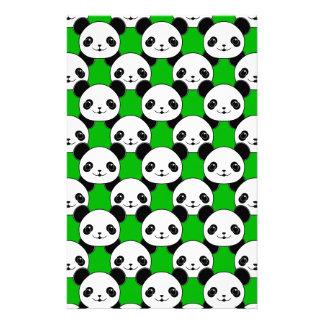 Kawaii Panda Bear Pattern Stationery