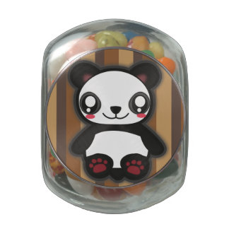 Kawaii panda candy tin