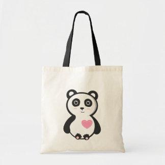 Kawaii Panda Canvas Bag