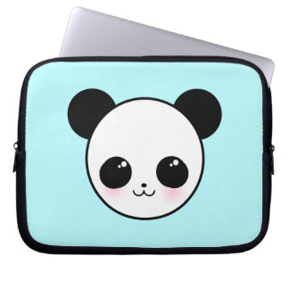 Kawaii Panda-chan Aqua Neoprene Laptop Sleeve