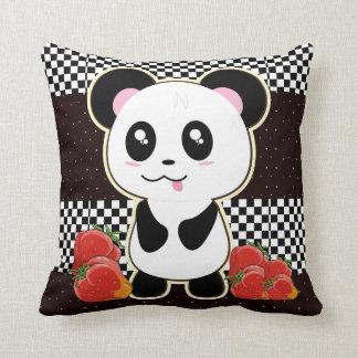 Kawaii Panda cute Throw Pillow