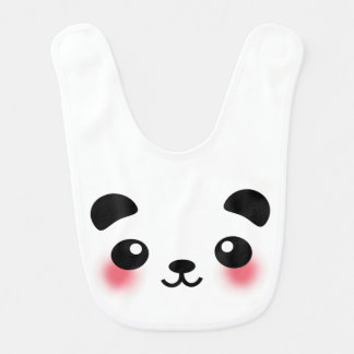 Kawaii Panda Face Bib