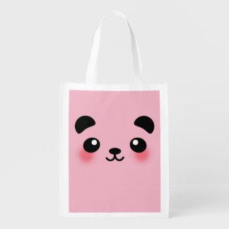 Kawaii Panda Face Reusable Grocery Bag