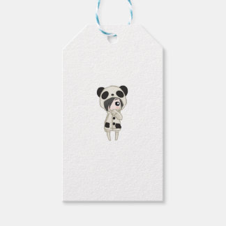 Kawaii Panda Girl Gift Tags
