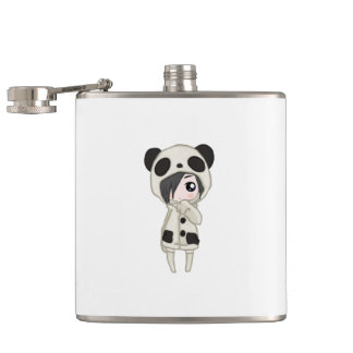 Kawaii Panda Girl Hip Flask