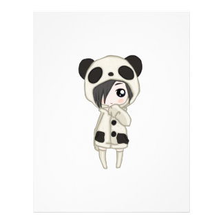 Kawaii Panda Girl Letterhead