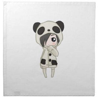 Kawaii Panda Girl Napkin
