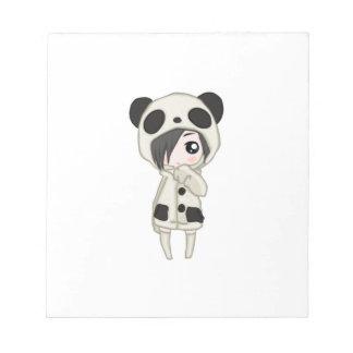 Kawaii Panda Girl Notepad