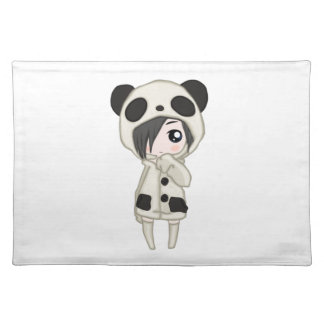 Kawaii Panda Girl Placemat