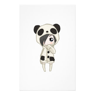 Kawaii Panda Girl Stationery