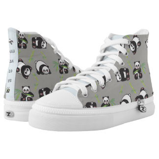 Kawaii Panda Love - HiTop Shoes
