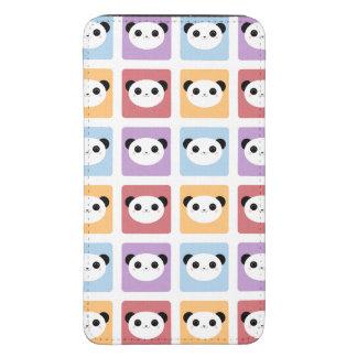 Kawaii Panda Multicolored Pop Squares Pattern Galaxy S5 Pouch