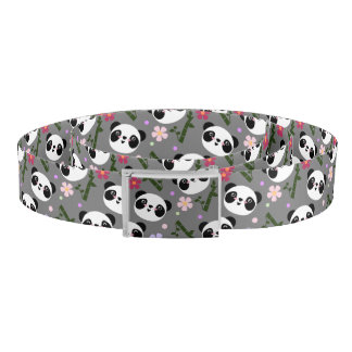 Kawaii Panda on Gray Belt