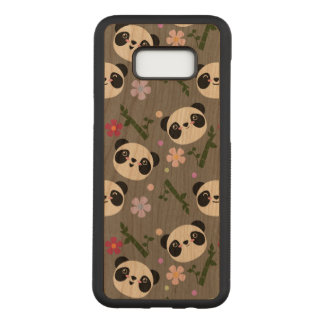 Kawaii Panda on Gray Carved Samsung Galaxy S8+ Case
