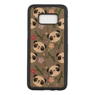 Kawaii Panda on Gray Carved Samsung Galaxy S8 Case