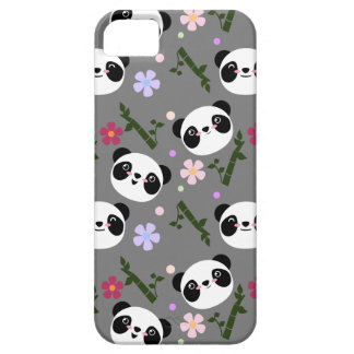 Kawaii Panda on Gray Case For The iPhone 5