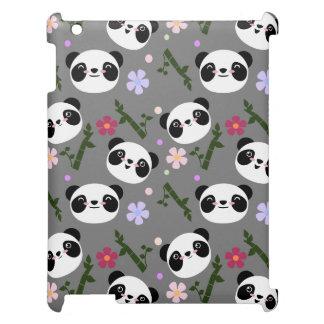 Kawaii Panda on Gray Cover For The iPad 2 3 4