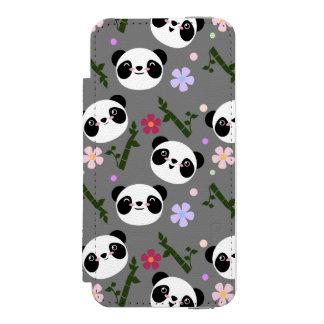 Kawaii Panda on Gray Incipio Watson™ iPhone 5 Wallet Case
