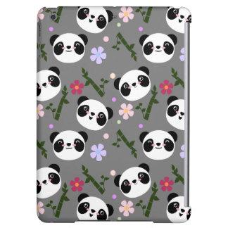 Kawaii Panda on Gray iPad Air Case