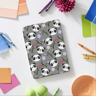 Kawaii Panda on Gray iPad Air Cover