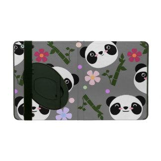 Kawaii Panda on Gray iPad Case