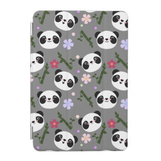 Kawaii Panda on Gray iPad Mini Cover