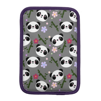 Kawaii Panda on Gray iPad Mini Sleeve