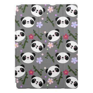 Kawaii Panda on Gray iPad Pro Cover