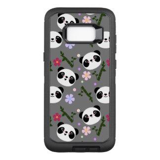 Kawaii Panda on Gray OtterBox Defender Samsung Galaxy S8+ Case