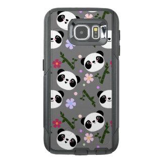 Kawaii Panda on Gray OtterBox Samsung Galaxy S6 Case