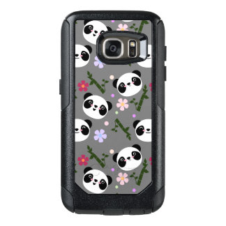 Kawaii Panda on Gray OtterBox Samsung Galaxy S7 Case