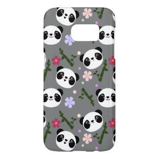 Kawaii Panda on Gray Samsung Galaxy S7 Case