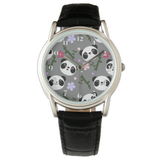 Kawaii Panda on Gray Watch