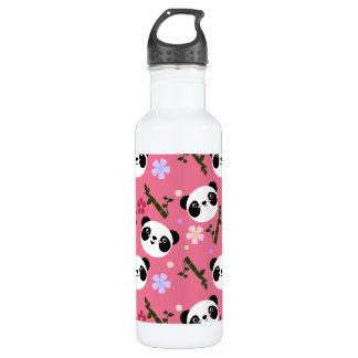 Kawaii Panda on Pink 710 Ml Water Bottle