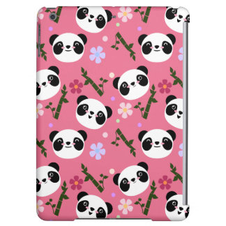 Kawaii Panda on Pink Case For iPad Air