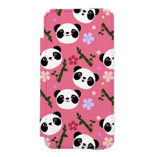 Kawaii Panda on Pink Incipio Watson™ iPhone 5 Wallet Case