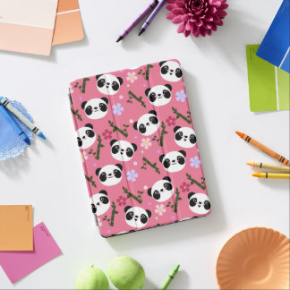 Kawaii Panda on Pink iPad Air Cover