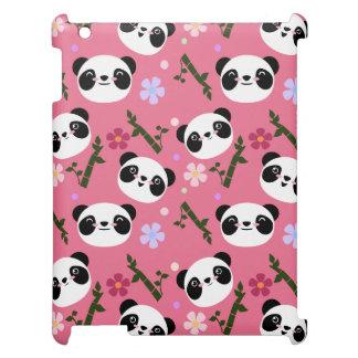 Kawaii Panda on Pink iPad Case