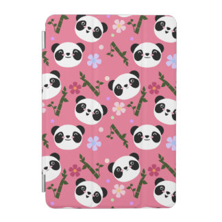 Kawaii Panda on Pink iPad Mini Cover