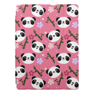 Kawaii Panda on Pink iPad Pro Cover